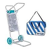 LOLAhome Carro portasillas Plegable Azul para Camping y Playa Nuevo y Mejorado (Carro con Nevera)