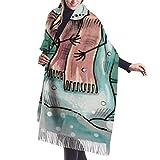 Muñeco de nieve Congelación exterior Imitar Cachemira Siento Invierno Bufanda Pashmina Mantón Envolturas Suave Cálida Manta Bufandas Elegante Abrigo Para Mujeres