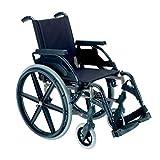Silla de Ruedas Plegable Breezy Premium (Antigua 250) en Gris Selenio con Rueda de 24' Asiento de 49 cm