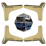 4 Piezas Patas de Mesa para Muebles, Pies de Muebles Triangulares de Metal para Sofás y Sillones, Pies de Gabinete Triangular de Repuesto para Gabinete, Sofá, Silla, Mesa de Centro (Dorado, 10 cm)