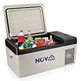 Novhome Refrigerador y congelador de coche de 20 litros, compresor de 12 V, mini refrigerador, portátil, para viajes al aire libre, camping y uso en el hogar