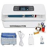 CGOLDENWALL Refrigerador de Medicamento Ultra Silencioso Nevera de Insulina Portátil de Tamaño 175x60x26mm丨con Temperatura Constante: 2-8℃丨de Fuente de Alimentación Multimodo (de 8 Horas)