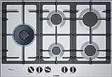 Bosch PCS7A5B90 - Placa de Gas, Serie 6, 5 Fuegos, FlameSelect, Mandos Ergonómicos