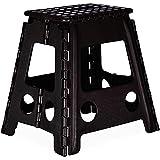 Acan Taburete Plegable PVC Infantil Multiuso MAX 150 kg (Negro, 29 x 22 x 32 cm)