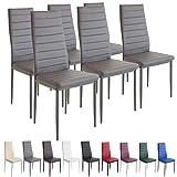 Albatros 2700 Milano Set de 6 sillas de Comedor, Gris