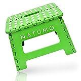 Natumo - Taburete plegable para 150 kg, taburete de cocina, baño, silla plegable de jardín, pequeño reposapiés para niños, ayuda para ascenso, lavabo, para niños y adultos
