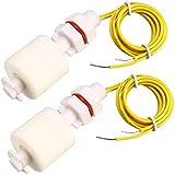 EHAO 2 piezas ZP4510 Sensor de nivel de agua líquido Interruptores de flotador verticales