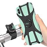 Soporte Movil Bici, 360° Rotación Soporte Movil Moto Bicicleta, Desmontable Anti Vibración Porta Telefono Motocicleta Montaña para iPhone, Samsung y Otro 4-6.5' Móvil
