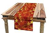 ABAKUHAUS Naranja Camino de Mesa, Diseños Naturales Artsy, Decorativo para el Comedor o Sala de Estar Fácil de Limpiar, 40 x 225 cm, Naranja quemada