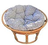 Cojines para el suelo o cojin redondo grande gris - 2 en 1 silla colgante jardin en papasan sillon