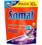 Somat Todo en 1 Extra Pastillas para Lavavajillas a Máquina Pack XL - 50 Lavados