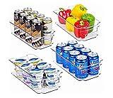 ALEMOK Organizador de Nevera, Organizador de latas, Almacenamiento de frutas y verduras, Organizador de despensa. Porta latas Pack 2.