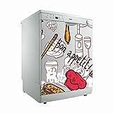 Vinilo para Lavavajillas Bon Appetit ¡ | Varias Medidas 65x75cm | Adhesivo Resistente y de Facil Aplicación | Pegatina Adhesiva Decorativa de Diseño Elegante