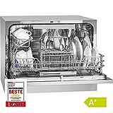 Bomann TSG 708 lavavajilla Independiente 6 cubiertos A+ - Lavavajillas (Independiente, Plata, Compacto, Botones, Acero inoxidable, 6 cubiertos) 52x57x61cm