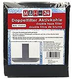 M&H-24 Filtro Campana Extractora Universal con Carbón Activo - Juego de Filtro de Carbono Activo y de Grasa, Filtro Universal para Cualquier Tipo de Campana, 57 x 47 cm, 2 Piezas