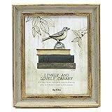 Afuly Marco de fotos vintage 8x10'(20x25cm) Oro y verde salvia antiguo para mesa de pared de escritorio