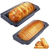 2pcs Molde para Pan1pcs Grande Moldes de panadería y 1pcs pequeño Utensilios para Hornear molde pan horno Antiadherentes de Acero al Carbono Molde para pan y plumcake