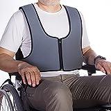 Arnés chaleco de sujeción con cremallera tipo peto, para silla de ruedas, sillas, sillones de descanso, para personas con inestabilidad, talla 1 (64-138 cm)