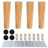 Patas de muebles de madera, patas de madera para armarios y mesas de TV, gabinete, sofá, cama, mesa de comedor, paquete de 4 unidades