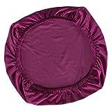 non-brand Cubierta de Silla para Decoración de Guarnición de Terciopelo de Comedor para Restaurante de Banquete - Morado Oscuro