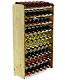MODO24 Botellero para 63 Botellas, Madera, Sin Tratar, 118,4x72,2x26,5 cm, 8