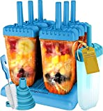 HelpCuisine Molde para Helados/Moldes de Polos - Juego de Seis Unidades sin BPA y Aprobado por FDA. 24 Meses de Garancia! (Azul)