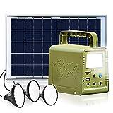 ECO-WORTHY 84Wh Sistema de Iluminación de Generador Solare de Estación de Energía Portátil con Panele Solare de 18 W y Lámpara LED para Energía de Respaldo de Emergencia en el Hogar, Camping, Viajes