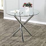 mesa de cocina mesa redonda extensible mesas de comedor redondas mesa cristal mesas cocina mesa redonda 90 cm*90 cm*30cm mesas estrechas para cocina y salón