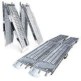 VOUNOT Rampa plegable | Rampas de carga 400 kg max | Rampa plegable para Moto y rampa de acceso | Resistente y conveniente | Tamaño 160 x 22.5x 4.5cm