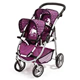 Bayer Design- Silla Gemelos Twin Tandem Violeta, Color Rosa, Morado. (26537AA)