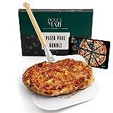 Dolce Mare Deslizador de Pizza - Pala de Aluminio para Pizza con Mango de bambú Robusto para un manejo cómodo - Paleta para Pizza