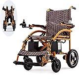 LFLLFLLFL Silla de Ruedas eléctrica, Ligero Plegable Inteligente Personal Ayuda a la Movilidad Vespa Silla de Ruedas Aprobado por la FDA