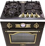 Kaiser - Juego de cocina de gas Autark Empire / horno de gas empotrado Eg 6345 Em + 60 cm kg de cocina de gas 6325 Em / fabricante de lujo / horno 67 litros / 2 funciones