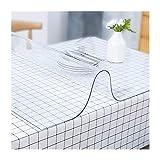 TMGJ PVC Mantel Transparente Rectangular,Suave Impermeable Resistente Al Aceite Resistente Altas Temperaturas,Soporte De PersonalizacióN,Se Puede Utilizar Comedor Y Sala(Color:1.5mm,Size: 70x70cm)