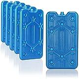 com-four 6X Paquete de Hielo Plano - Ahorra Espacio y es Ideal para la Nevera - refrigerante para el Camping y la Playa (06 Piezas - Medio)
