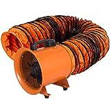 Husuper Extractor Ventilador Industrial Portátil 2.800 r/m Ventilador Profesional para Construcción 520W Ventilador de Piso Industrial Ventilador Industrial 300 mm Portátil Conducto PVC Tubo 10m