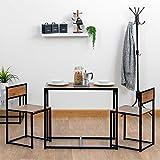 Harbour Housewares Set de Mesa de Comedor/Cocina y 2 sillas - Diseño Compacto Que Ahorra Espacio