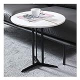 Amrai Mesa Lateral Mesa Central Blanca para salón, sofá y mesas de Consola Muebles de diseño Moderno para el hogar