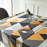 Mantel para Mesa Patrón de Triángulo Geometría de Cocina Salón Rectangular Impermeable Lavable Diseño de Comedor Decoración del Hogar Oficinas (23 * 23in/60 * 60cm)