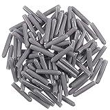 WENTS Tapas para estante de lavavajillas, 200 piezas, tapa para rejilla de lavaplatos, tapas para rejilla de clavijas, simplemente presiona para reparar, 1/8 pulgadas/3 mm de diámetro interior (gris)