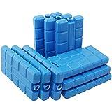 com-four 9X Enfriadores para el Verano - Batería de refrigeración en Azul - Nevera portatil para el hogar y el Ocio - Bolsa Nevera en Azul