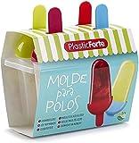 Moldes de Helados Reutilizables Plástico Sin BPA/ Molde Para Helado Congelador/ Mini Molde Para Helados Varios Colores/ Molde Para Polos, Helados/ 4Cavidades 4Uds