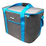 ToCi Bolsa nevera grande de 36 litros, bolsa isotérmica, bolsa de pícnic, bolsa de pícnic, color gris oscuro para picnic, camping, vacaciones, senderismo