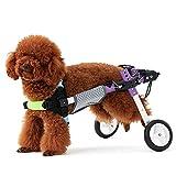 RUNGAO - Kit de 2 ruedas para silla de ruedas con cuerda de tracción para perros discapacitados y cachorros con soporte abdominal (XS)