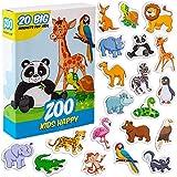 MAGDUM Imanes Animales Zoo Infantil para niños - Imanes Nevera Grandes - Juguetes EDUCATIVOS bebé 3 años - Imanes Pizarra magnética para Aprender - Teatro de imán Animales de la Jungla