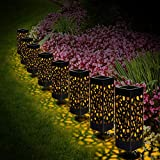 Lámparas solares jardín, 8 Piezas Luz Solar Exterior Jardin, Luces de Camino Solar al aire libre, Luces decorativas solares inalámbricas, Impermeable IP 44 para terraza,césped,jardín,patios
