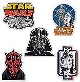 Logoshirt Juego de imanes de Nevera La Guerra de Las Galaxias - Juego de 5 imanes de refrigerador Star Wars - Halcón Milenario, Darth Vader, Darth Maul, Droids y R2-D2 - Diseño Original con Licencia