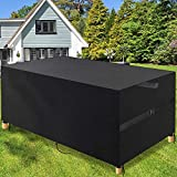 POOTACK Juego de Funda para Muebles, 3KG Fundas para Muebles de Jardin Impermeables, Funda Mesa Jardin, 600D Oxford Resistente Anti - UV Funda Muebles Patio Terraza al Aire Libre 200x160x70cm